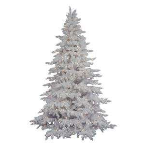 Flocked White Spruce 78 Artificial Christmas Tree with