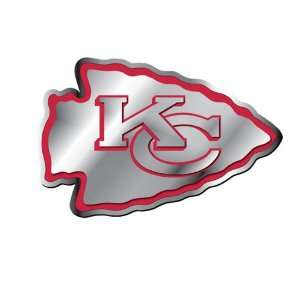Kansas City Chiefs NFL Football Team Red & Chrome Plated Premium Metal