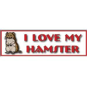 I Love My Hamster; decal/bumper sticker