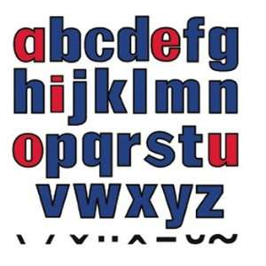 9 Pack LITTLE FOLKS VISUALS LOWER CASE LETTERS