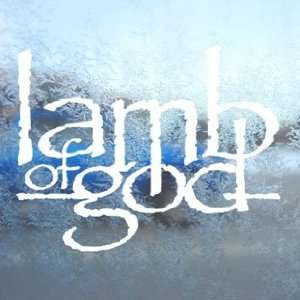 Lamb Of God Prog Rock Band Logo White Decal Car White