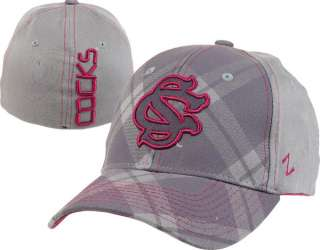 South Carolina Gamecocks Charcoal Tartan Flex Hat