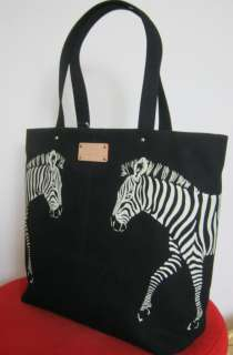 Kate Spade Zebra Bon Shopper Tote Bag Black White NWT