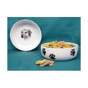 Yellow Lab Dog Bowl