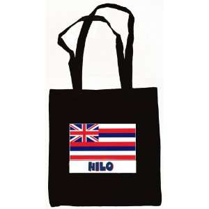 Hilo Hawaii Souvenir Canvas Tote Bag Black Everything