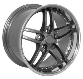 17 18 9.5/10.5 Gunmetal C6 Z06 Wheels Rims Fit Camaro Corvette