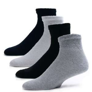 Sole Pleasers Mens Asssorted Diabetic Quarter Socks   12