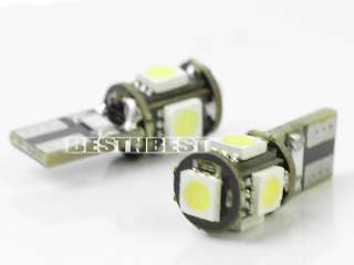 pcs No Error CANBUS T10 147 168 194 W5W 5 SMD LED Car Side Light