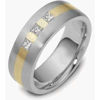 5mm 18 Karat Two Tone Gold Diamond Band, 0.39 TCW   7