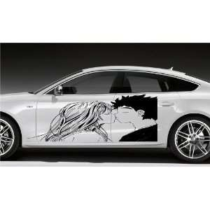 ANIME KISSING COUPLE MANGA CAR VINYL STICKER D1614