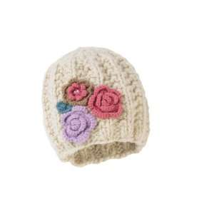 Womens Knit Beanie Multi Flowers Warm Winter Hat NEW
