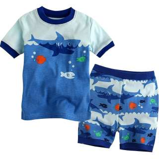 WT Vaenait Baby Toddler Kid Unisexs Short Sleeve Sleepwear  Shark