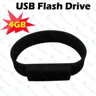 4GB 2.0 Wrist Band Bracelet USB Flash Memory Pen Drive