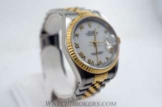 Rolex Oyster Perpetual Datejust Ref 16233 Two Tone Mens Stainless