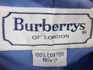 BURBERRYS Mens Blue White Long Sleeve Shirt Sz 16.5 3