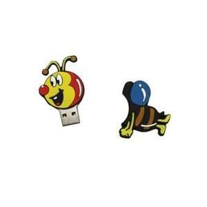 8GB Lovely Bee Shaped Cartoon USB Flash Drive Electronics