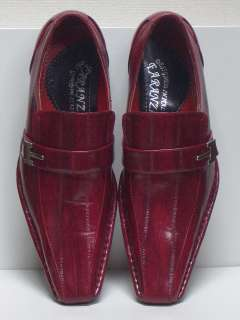 MENS LOAFER STYLE RED DRESS SHOES SIZE 10 NEW