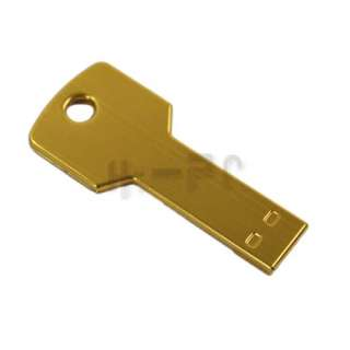 1GB Metal Key USB 2.0 Flash Memory Drive Stick Yellow
