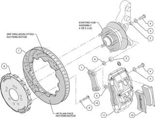 WILWOOD DISC BRAKE KIT,FRONT,89 98 NISSAN 240SX,13,DRL