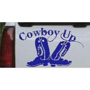 Cowboy Up With Boots Rodeo Western Car Window Wall Laptop