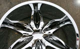 VISCERA 778 22 CHROME RIMS WHEELS CHEVROLET TRAILBLAZER