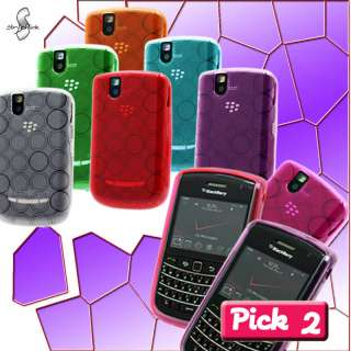 2x SOFT TPU GEL CASE COVER VERIZON BLACKBERRY BOLD 9650