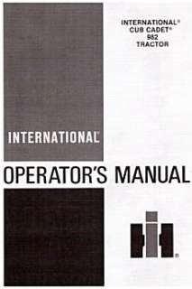 Cub Cadet IH Model 982 Tractor Operators manual