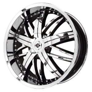 Black Ice Alloys Nemesis Black Wheel with Chrome Finish (20x8.5/5x115