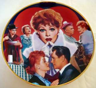 Lucille Ball Commemorative I LOVE LUCY Plate MIB/COA