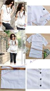 New Stylish Korea Womens Ladies Office Casual White Shirt Blouese&Top
