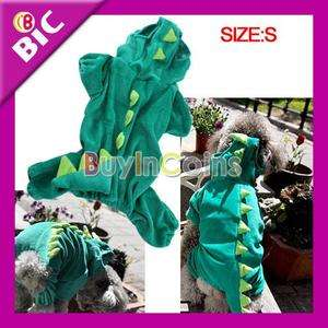 Cute Comfortable Dinosaur Puppies Dog Cothes Hooded Costume Pet