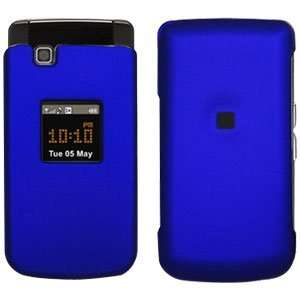 New Amzer Rubberized Blue Snap Crystal Hard Case For Samsung Myshot 2