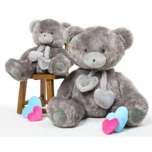 Angel Hugs 45 Silver Grey Soft Plush Love Teddy Bear Toys & Games