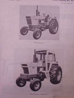 1970 Case 870 Agri King Tractor Parts Manual Book ORIG