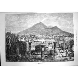 1872 Vesuvius Forum Pompeii Volcano Mountains Fine Art