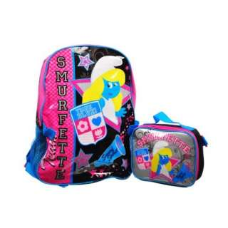 Smurfs Smurfette Large Backpack with Lunch Kit Clothing