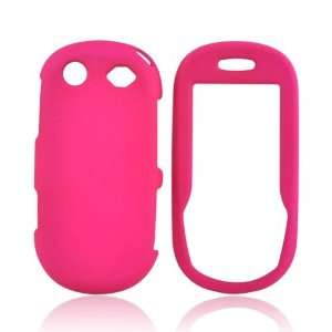 HOT PINK For Samsung T249 Rubberized Hard Case Cover
