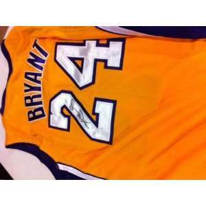 Bryant Autographed Hand Signed Authentic Los Angeles Lakers Jersey