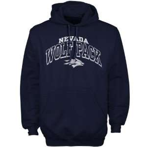 Nevada Wolf Pack Navy Blue Arched Hoody Sweatshirt Sports