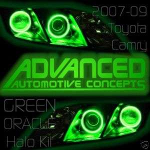 GREEN 07+ Toyota Camry Headlight HALO Kit Demon Eye Kit