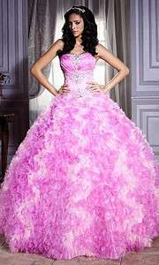Unique Strapless Pink Formal Dress Ball Gown