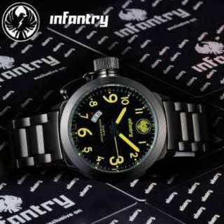 AVIGATOR Fashion Mens Army Police Quartz Sports Stainless Steel Watch