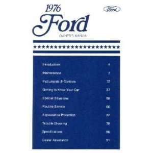 1976 FORD GALAXIE LTD Owners Manual User Guide Automotive