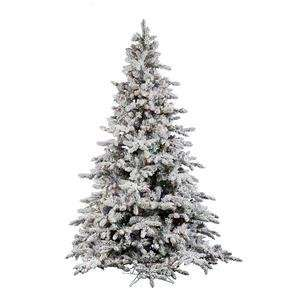 Vickerman 22245   7.5 x 65 Flocked Utica 630 Multi Color