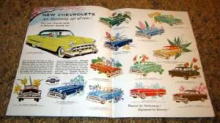 1954 Chevy Bel Air Two Ten & One Fifty Original Color Ad