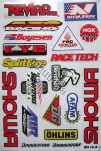 Motor bike bicycle track kit cross sticker dirt decal