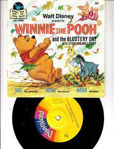 Disneys Winnie the Pooh Blustery Day Book & Record 1978