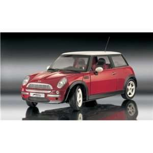 Mini Cooper Diecast Car Model 112 Red Revell Toys