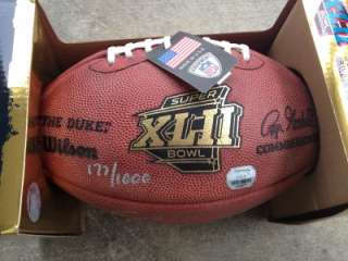 AUTOGRAPHED SUPERBOWL GAME FOOTBALLMOUNTED MEMORIES177/1000