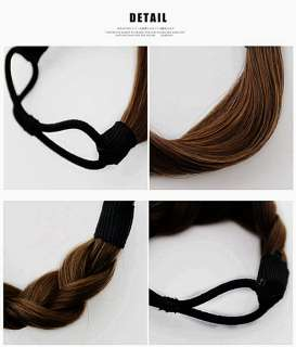 Synthetic Hair Ponytail Holders Scrunchies Elastic Tie band Ring